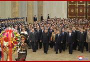 金正恩氏が錦繍山太陽宮殿を参拝した金正恩氏(2021年1月13日付朝鮮中央通信)