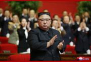 朝鮮労働党総書記に推戴された金正恩氏(2021年1月11日付朝鮮中央通信)