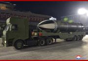 SLBM「北極星5」型/労働党第8回大会記念軍事パレード(2021年1月15日付朝鮮中央通信)