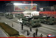 労働党第8回大会記念軍事パレード(2021年1月15日付朝鮮中央通信)