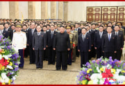 錦繍山太陽宮殿を参拝した金正恩氏(2021年17日付朝鮮中央通信)