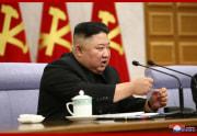 労働党中央委第8期第2回総会を指導した金正恩氏(2021年2月9日付朝鮮中央通信)