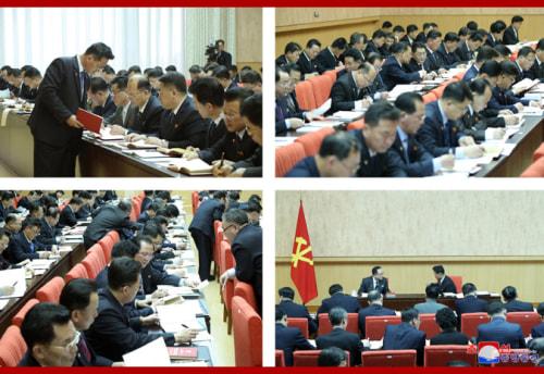 朝鮮労働党第8期第2回総会第2日目会議でのb部門別協議会(2021年2月11日付朝鮮中央通信)