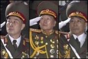 左からクァク・チャンシク護衛司令官(上将)、ハン・スンチョル党中央委護衛処長(上将)、キム・ヨンホ護衛局長(中将)(労働新聞)