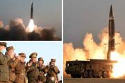 北朝鮮が25日に発射した新型戦術誘導弾(2021年3月25日付労働新聞)