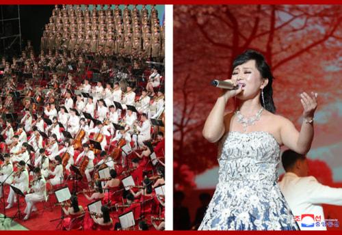 太陽節祝賀公演(2021年4月16日付朝鮮中央通信)