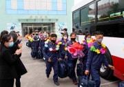 農村や炭鉱に「志願」したとされる黄海北道の青年たち(2021年5月19日付労働新聞)