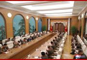 金正恩氏が労働党中央軍事委拡大会議を指導(2021年6月12日付朝鮮中央通信)