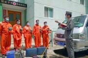 平壌の大城区域衛生防疫所(労働新聞)