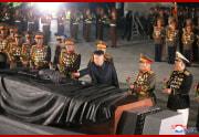 金正恩氏が朝鮮戦争参戦烈士墓を訪れた(2021年7月27日付朝鮮中央通信)