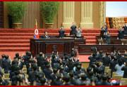 金正恩氏が最高人民会議で施政演説を行なった(2021年9月30日付朝鮮中央通信)
