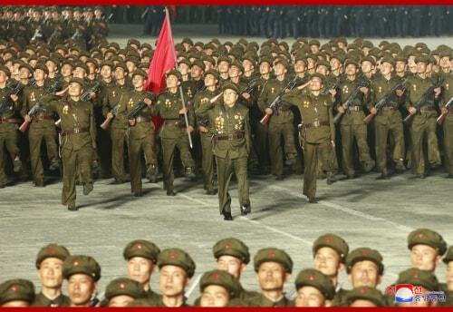 北朝鮮の建国73周年を祝う「民間および安全武力閲兵式」(2021年9月9日付朝鮮中央通信)