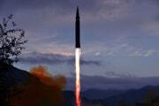 北朝鮮が28日に発射した「極超音速ミサイル」(2021年9月29日付労働新聞)