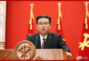 朝鮮労働党創建76周年記念講演会で演説する金正恩氏(2021年10月11日付朝鮮中央通信)